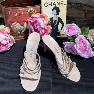 Chanel Swarovski crystal cc Heels